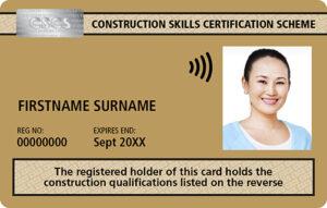 Gold CSCS Supervisory Card
